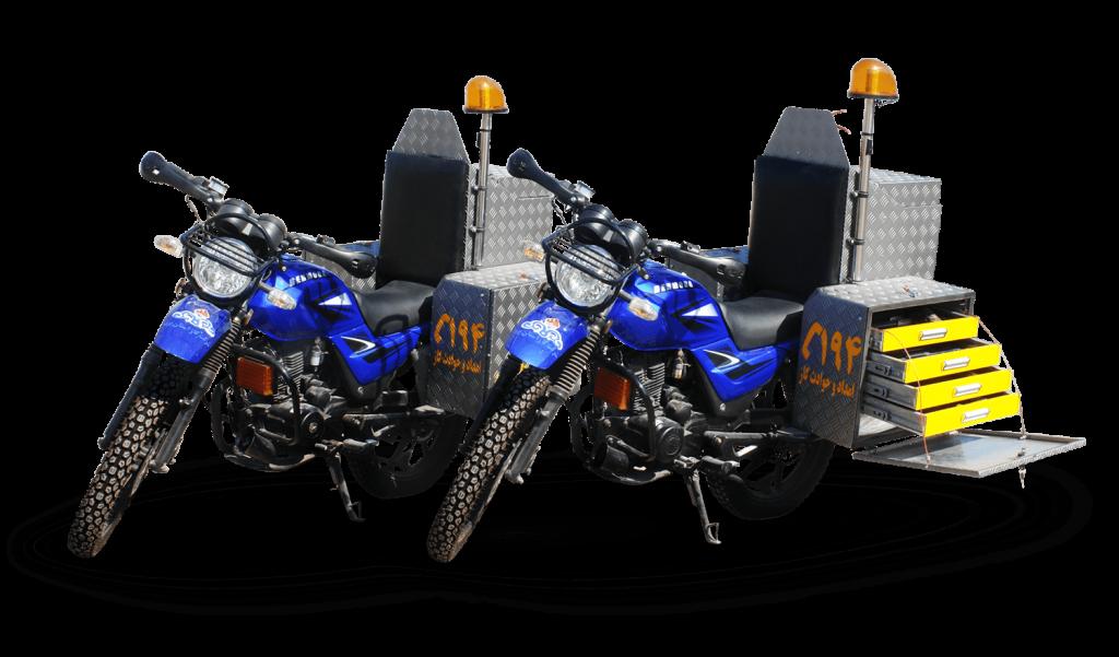 موتور سیکلت های پیشرو آتش نشانی آتش مهاران