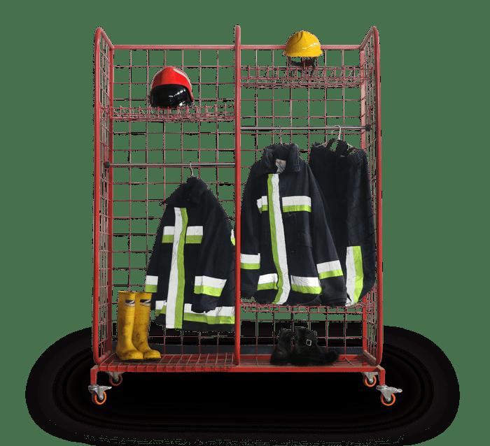 تجهیزات اتش نشانی | جا لباسی آتش نشانی آتش مهاران نوین آریا