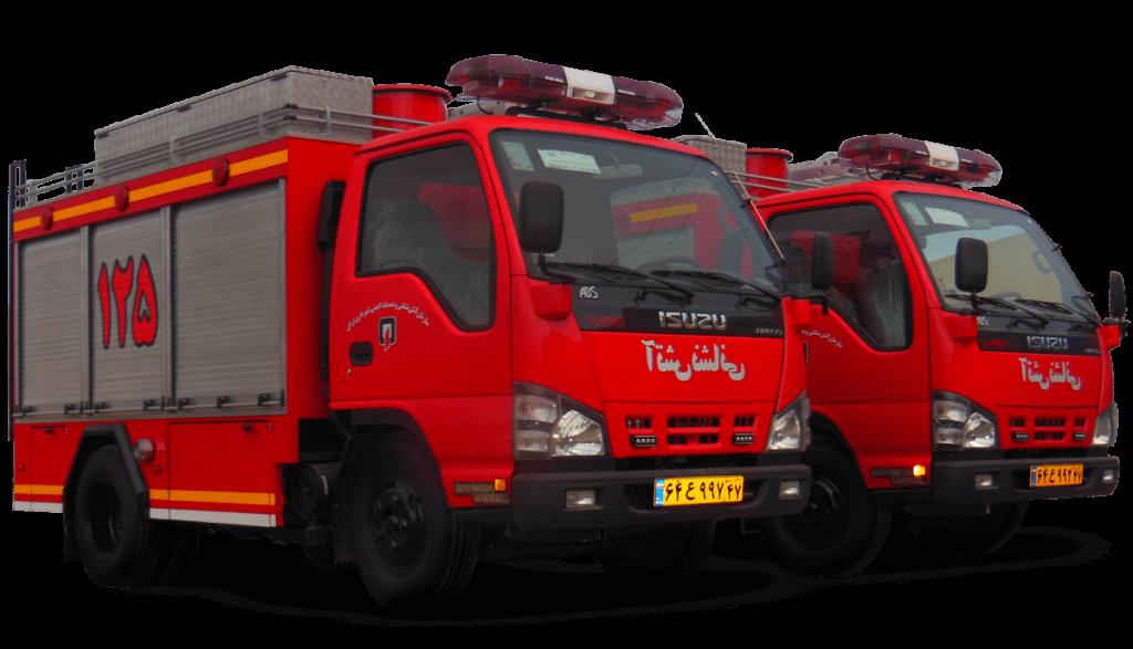 ماشین های آتش نشانی پیشرو آتش مهاران نوین آریا