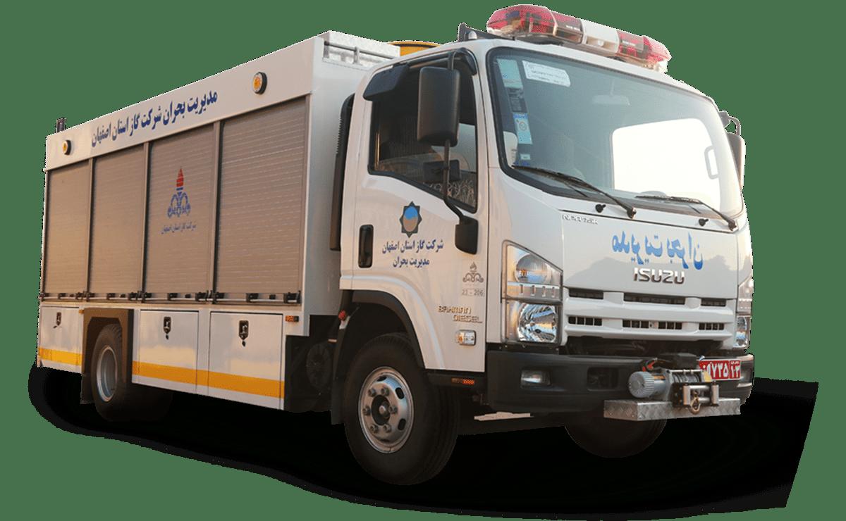 ماشین مدیریت بحران و امداد و نجات آتش نشانی آتش مهاران نوین آریا