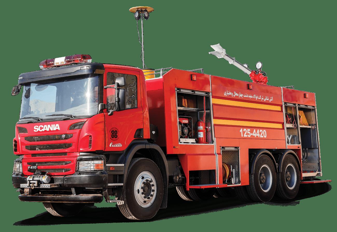 ماشین آتش نشانی اسکانیا | آتش مهاران نوین آریا
